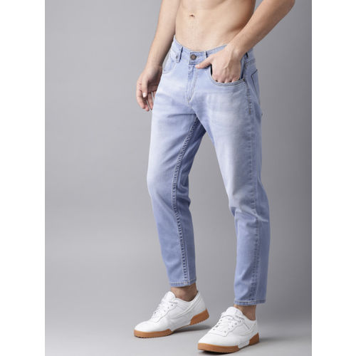Moda Rapido Men Blue Slim tapered Fit Mid-Rise Clean Look Stretchable Jeans