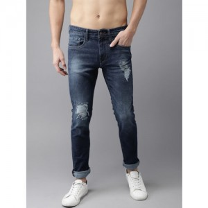 Moda Rapido Men Blue Slim Fit Mid-Rise Mildly Distressed Stretchable Jeans