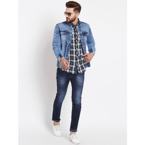 Canary London Blue Solid Denim Jacket