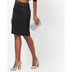 FABALLEY Pencil Skirt with Back Slit