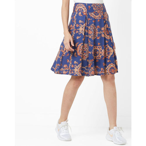 5e9abe7e7 Buy AJIO Printed & Pleated A-line Skirt online | Looksgud.in