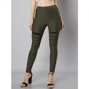 FabAlley Green Jegging(Solid)