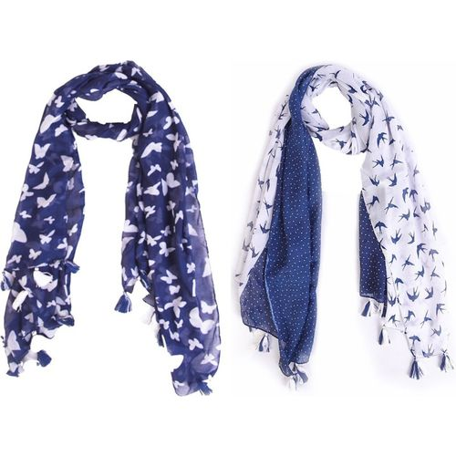 Ziva Fashion Printed COTTON Women's Scarf, Stole