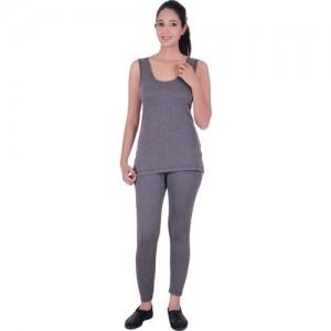 5669c3033ebb4e Buy Jockey Women s Gray Thermals Pyjama online