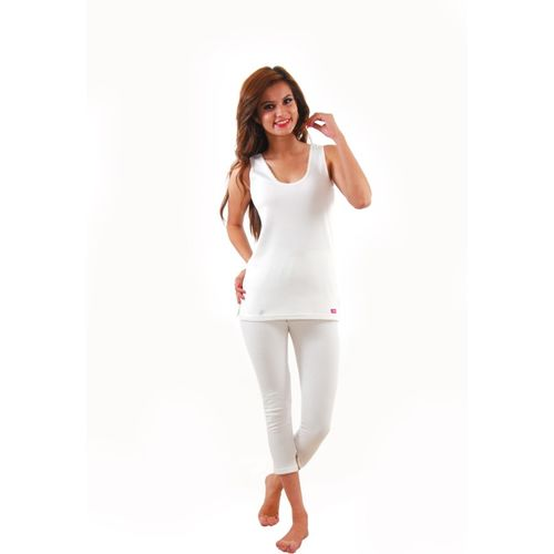 Yorker White Sleevles Women's Top - Pyjama Set
