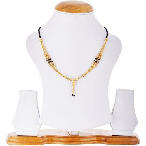 Zeneme Women's Pride Designer Gold Plated Mangalsutra Alloy Mangalsutra