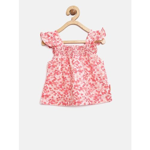 Gini and Jony Girls Pink Printed A-Line Top