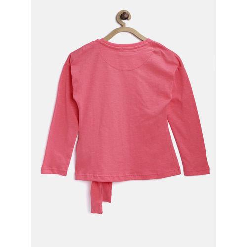 Gini and Jony Girls Pink Printed Top