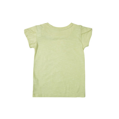 Gini and Jony Girls Green Printed Top