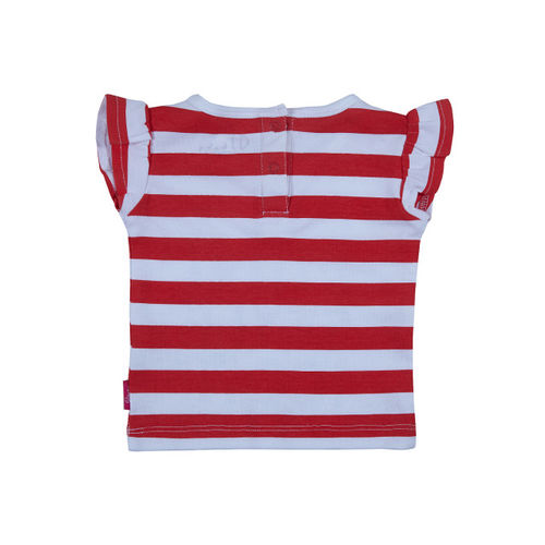 Gini and Jony Girls Red & Blue Striped Top
