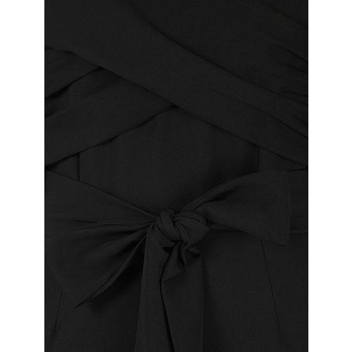 FabAlley Black Solid Basic Off-Shoulder Jumpsuit