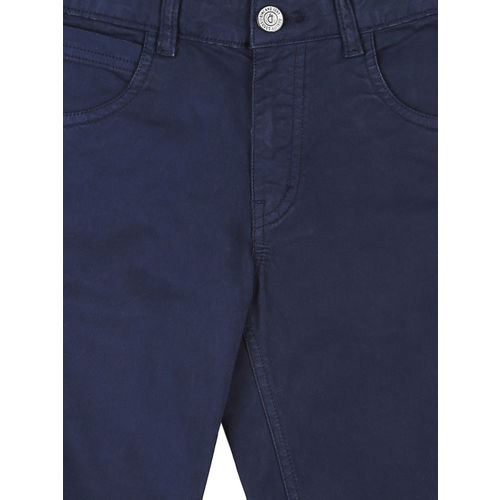 Gini and Jony Boys Blue Solid Regular Fit Shorts