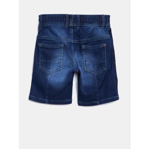 Gini and Jony Boys Blue Washed Regular Fit Denim Shorts