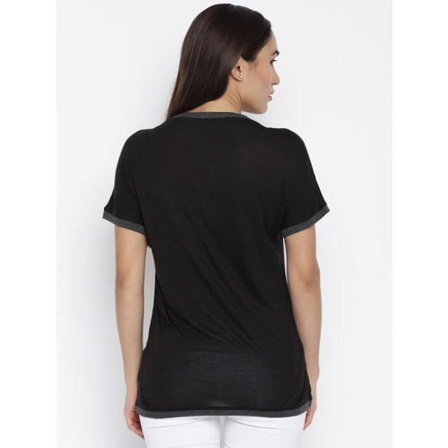 ONLY Women Black Printed T-shirt