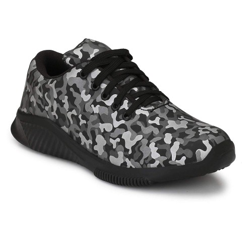 Big Fox Men's Camouflage Black Sports Shoes