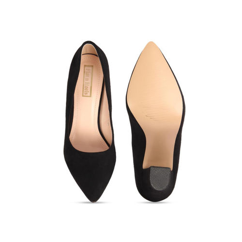 Flat n Heels Women Navy Blue Solid Pumps