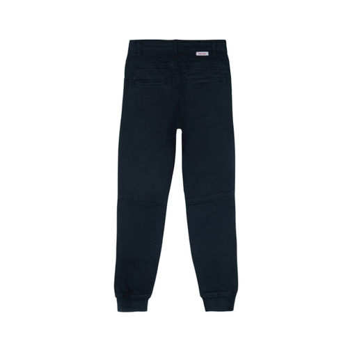 Gini and Jony Boys Blue Regular Fit Solid Joggers