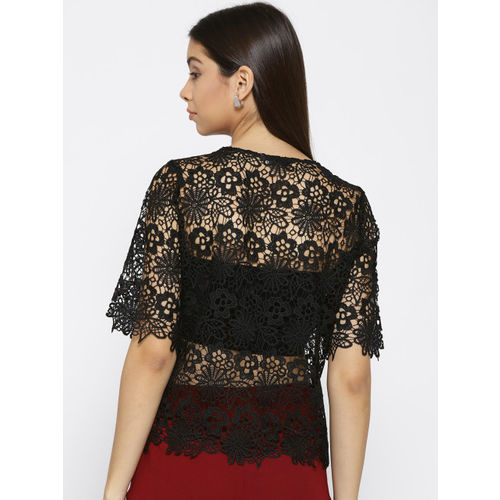 ONLY Women Black Lace Top