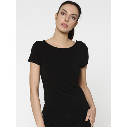 ONLY Women Black Solid Styled Back Top