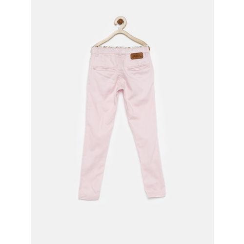 Gini and Jony Gini & Jony Girls Pink Slim Trousers
