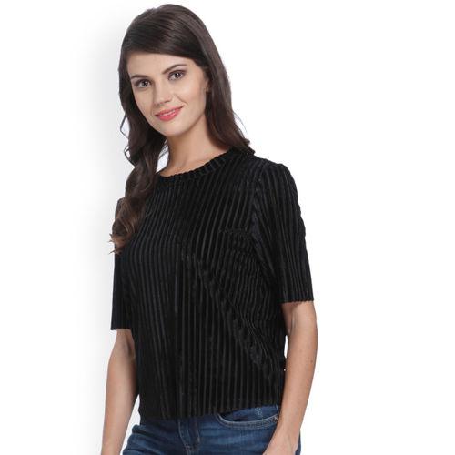 ONLY Women Black Striped Top