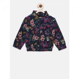 7bf6d1e10cf1 Buy Cutecumber Black Floral Print Girl s Coat online
