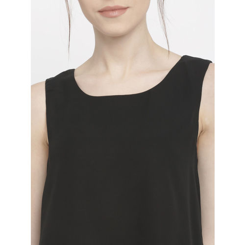 ONLY Women Black Solid Layered Top
