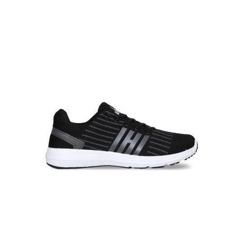 Refoam Men's Black & D.Grey Flyknit Running Sport Shoes