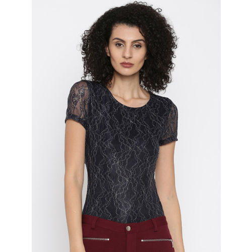 ONLY Women Navy Lace Top