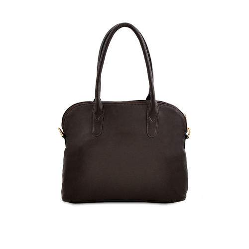 LaFille Brown Solid Handheld Bag