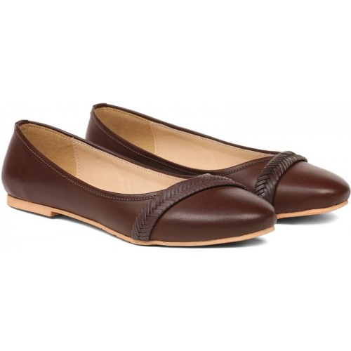 Bata Brown Synthteic Casual Bellies