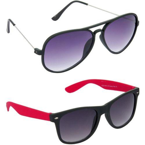Hrinkar Black Uv Protection Aviator Sunglasses