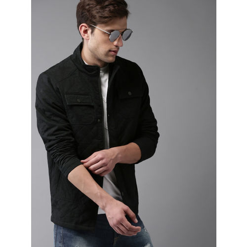 78ca5f028b6cd Buy Moda Rapido Men Black Solid Quilted Jacket online
