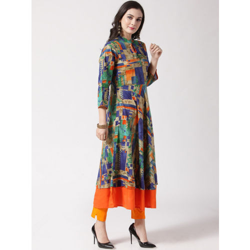 67272257a Buy Jompers Women Multicoloured Printed Anarkali Kurta online ...