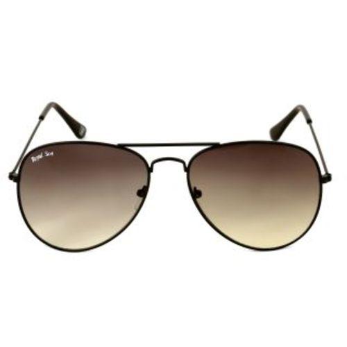 Royal Son UV Protected Aviator Unisex Sunglasses (RS006AV58Black Lens)