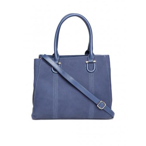 Mast & Harbour Navy Blue Textured Handheld Bag