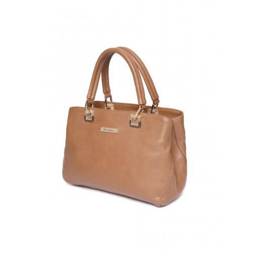 Mast & Harbour Brown Polyurethane Solid Handheld Bag