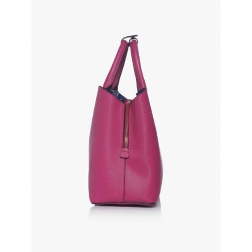 Dune Fuchsia Synthetic Solid Handheld Bag