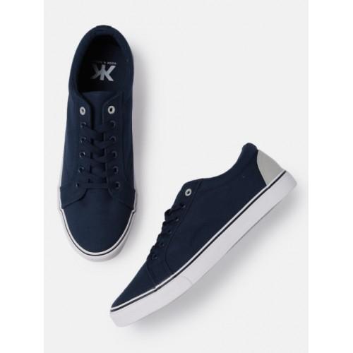 Kook N Keech Men Solid Navy Blue Sneakers