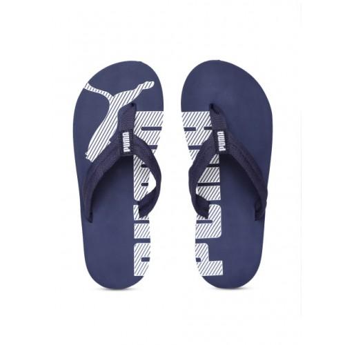 Buy Puma Unisex Navy Blue Printed Thong Flip-Flops online ... 83dc62e2e
