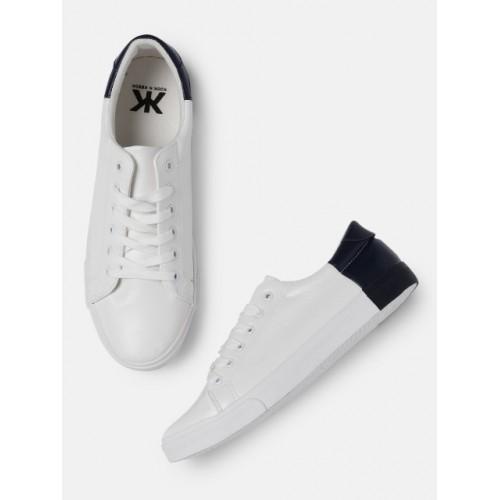 e87460786dd Buy Kook N Keech Men Solid White Sneakers online