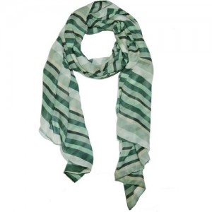 Weavers Villa Striped Trendy Poly Cotton Summer Vibrant Women's Scarf
