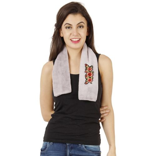 FabSeasons Embroidered Faux Fur Women Scarf