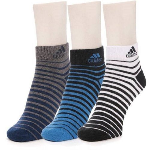 ADIDAS Men Striped Ankle Length(Pack of 3)