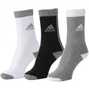 ADIDAS Men & Women Solid Mid-Calf/Crew(Pack of 3)