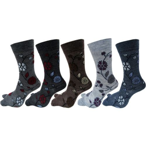 Rc. Royal Class Women Floral Print Mid-Calf/Crew(Pack of 5)