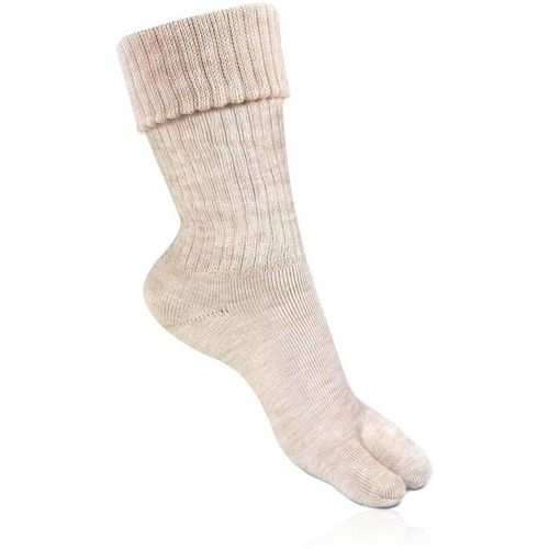 Bonjour Beige Wool Women's Mid-Calf/Crew Socks