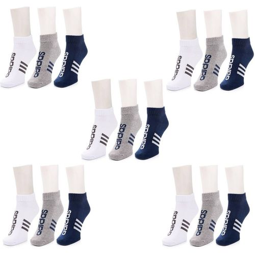ADIDAS Men's & Women's Striped Ankle Length(Pack of 3)