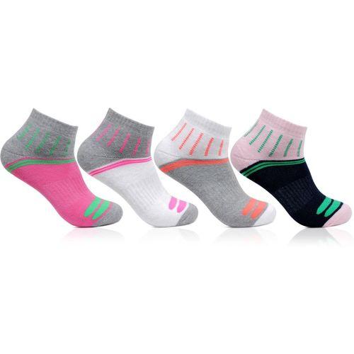 Bonjour Women's Ankle Length Socks(Pack Of 4)
