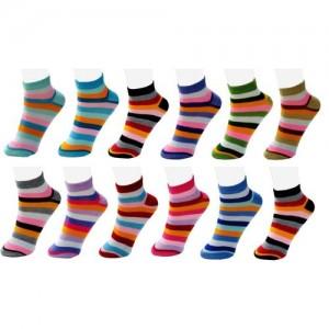 Neska Moda Women's Striped Ankle Length(Pack of 12)